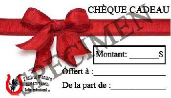 Image: chèque cadeau